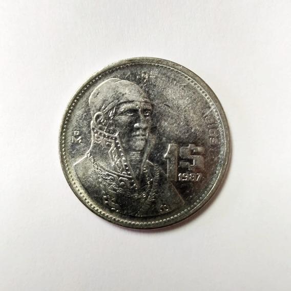 Moneda De $1 Peso Mexicano Morelos 1984 - 1987