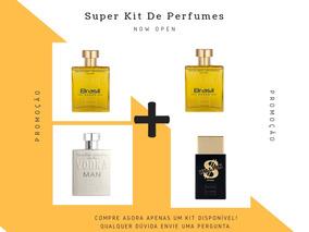 Super Kit 4 Perfumes Importados Paris Elysees Vodka+billion