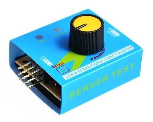 Imagen 1 de 7 de Tester Probador Servos Pwm Esc Tester 3 Canales 4.8-6v Ccpm