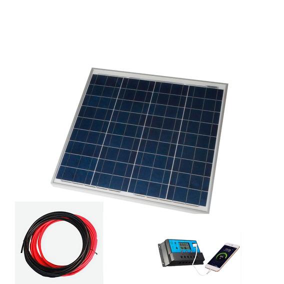 Kit Placa Painel Solar 10w Inversor Controlador 12v 220 500w