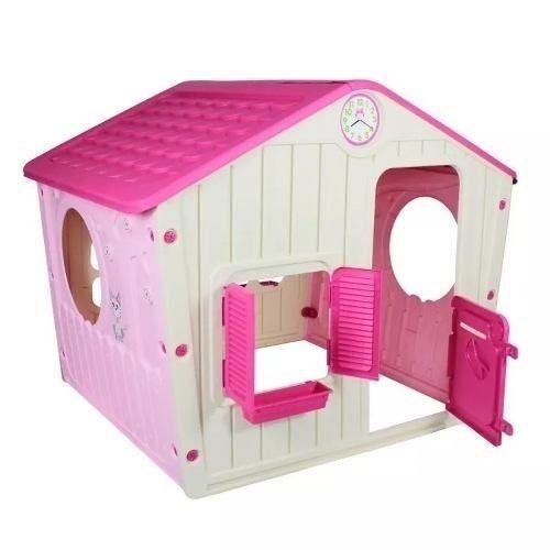 Casinha De Brinquedo Infantil Para Meninas Cor Pink Belbrink