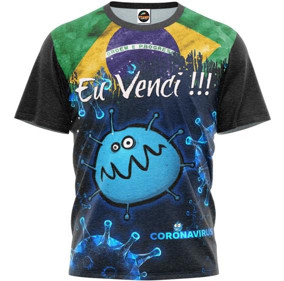 Camiseta Camisa Corona Eu Venci Masculina Blusa M 001