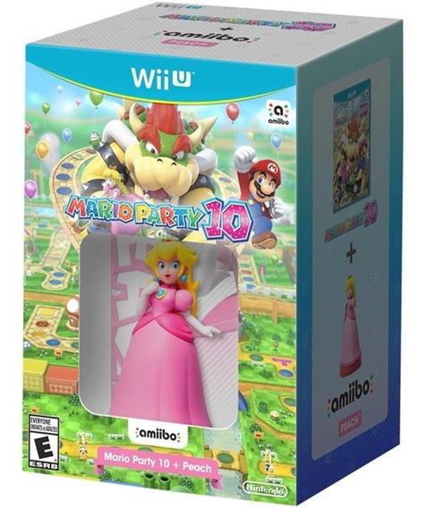 Mario Party 10 + Amiibo Peach - Wii U Mídia Física