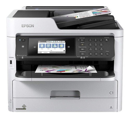 Imagen 1 de 2 de Impresora a color multifunción Epson WorkForce Pro WF-C5790 con wifi blanca y negra 100V/240V