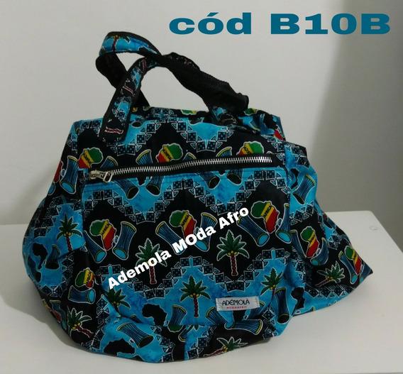 Bolsa Em Tecido Africano - B10b