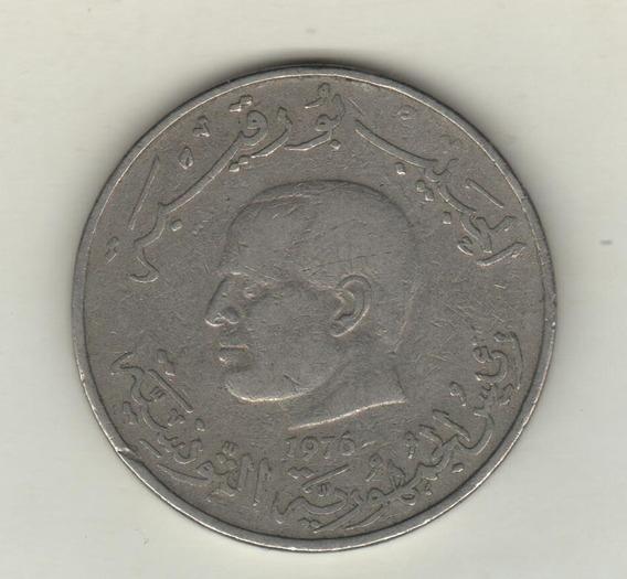 Tunez Moneda De 1 Dinar Año 1976 F.a.o. Km 304 - Vf+