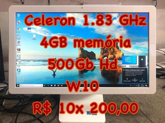 Computador All In One 22v240 Celeron 1.83ghz 4gb Ram, Hd 500