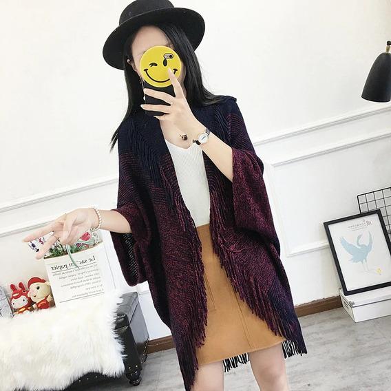Moda Poncho Capa Mujer Otoño Varios Colores Super Lindos