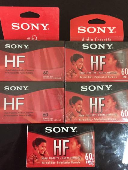Fita K7 Cassete Sony Hf 60 - Normal - Lacrada Cada 35