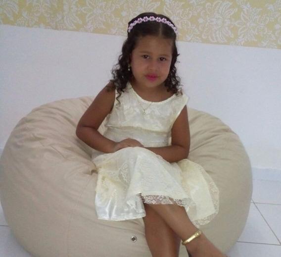 Vestido De Renda Floral Infantil Pronta Entrega Forrado 01
