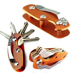 Chaveiro Alumínio Organizador Chaves Acessório Clip