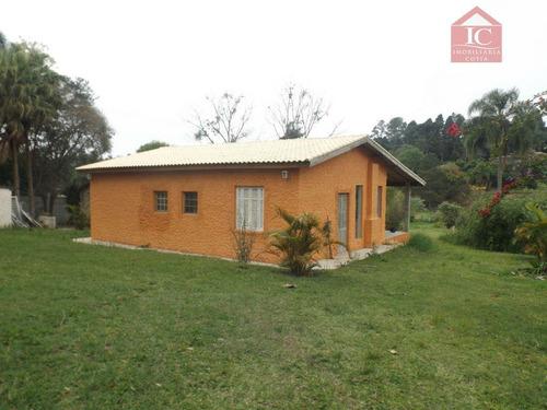 Chácara Com 2 Dormitórios À Venda, 3800 M² Por R$ 500.000,00 - Pereiras - Cotia/sp - Ch0025
