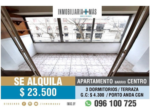 Imagen 1 de 16 de Apartamento Alquiler Centro Montevideo Imas.uy Lc *