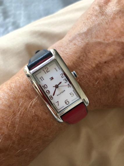 Relógio Tommy Hilfiger Pulseira Bi Vermelho E Azul