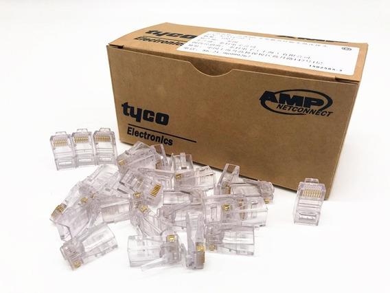 Conector Rj45 Utp Cat5e Redes Caja De 100 Unidades