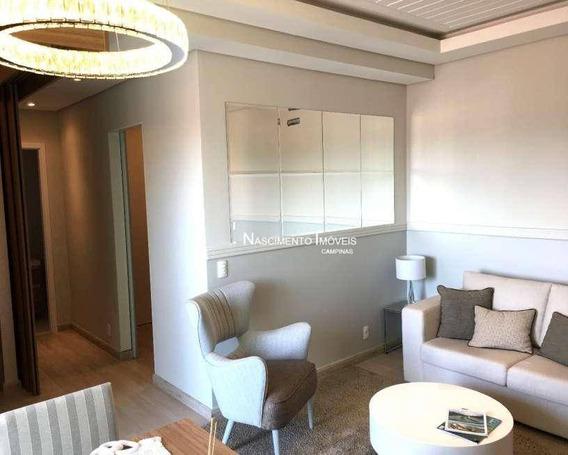 Apartamento Com 3 Dormitórios À Venda, 70 M² Por R$ 520.000 - Taquaral - Campinas/sp - Ap0535