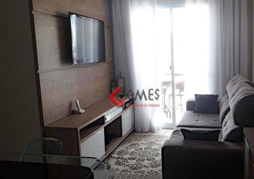 Apartamento Com 3 Dormitórios À Venda, 57 M² Por R$ 295.000,00 - Jardim Irajá - São Bernardo Do Campo/sp - Ap2363