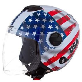 Capacete Pro Tork New Atomic Bandeira Usa Estados Unidos