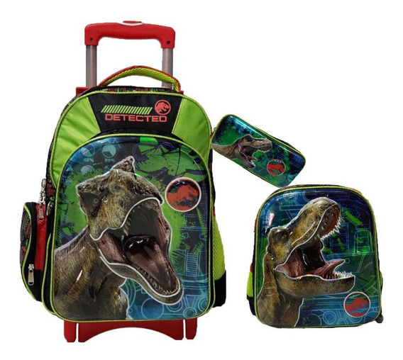 Kit Escolar Ruz Dinosaurios Jurasic World Mochila Carro