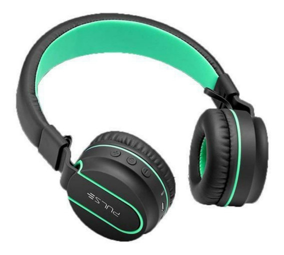 Headphone Bluetooth Pulse Fun Series Preto Com Verde Ph215