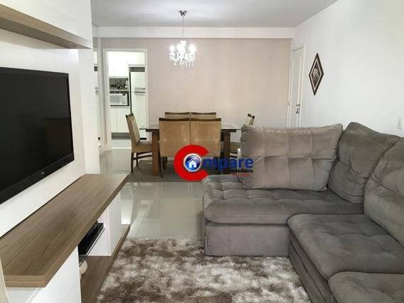 Apartamento Com 3 Dormitórios Para Alugar, 96 M² Por R$ 2.400/mês - Vila Augusta - Guarulhos/sp - Ap8721