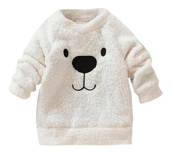 Casaco Infantil De Pelinho Desenho Bichinho Blusa Frio