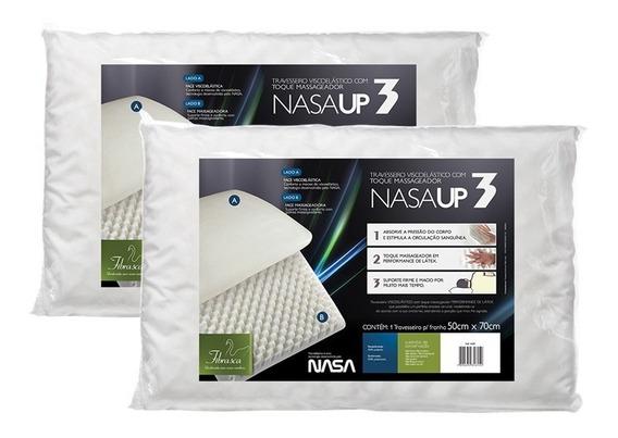 2 Travesseiros Nasa Up3 Viscoelástico Fibrasca Melhor Preço