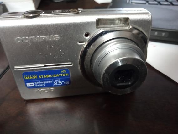 Câmera Olympus X- 750 6.0 Mp Liga , Mas Com Defeito