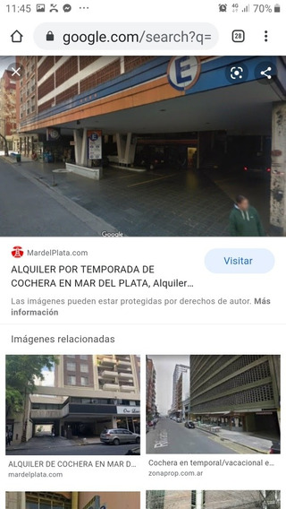 Cochera Cubierta N 512, 13 M2, Bolivar 2457 Mdp, Rampa Fija