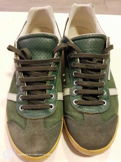 Zapatillas Lacoste Original Color Verde Talle 40.5 Impecable