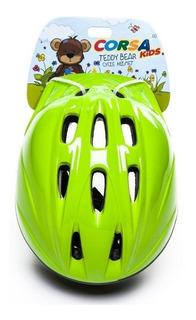 Capacete Bike Infantil Corsa Kids Pz-11 Verde Tamanho P