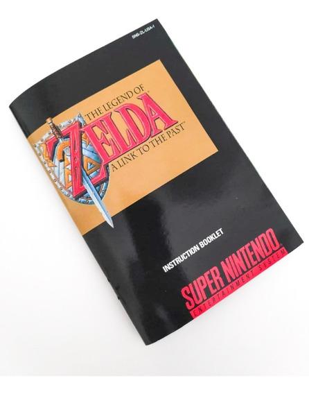 Manual Reposição Zelda Link To The Past Snes Super Nintendo