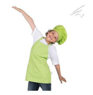 Mandil O Delantal De Cocinero Para Niña Pistachio Talla 4