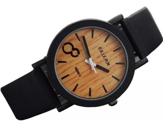 Relógio Feifan Feminino Original Com Pulseira Preta
