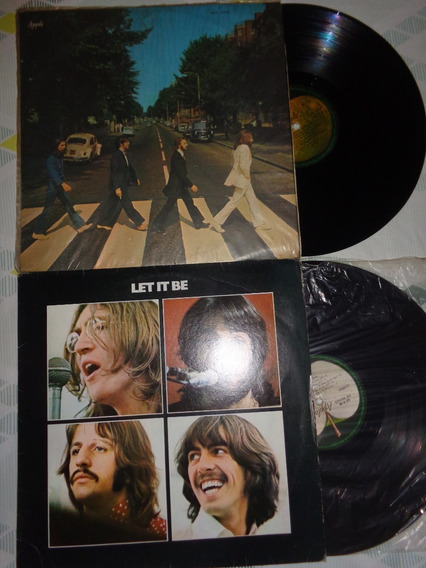 2 Lps Beatles- Abbey Road Mono E Let It Be- Frete