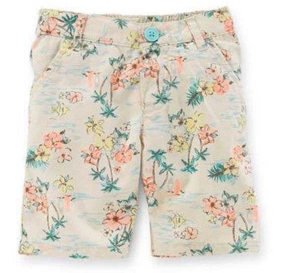 Bermudas Short Carters Floral Palmeras