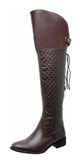 Mega Boots Bota Mega Boots Over The Knee Marrom