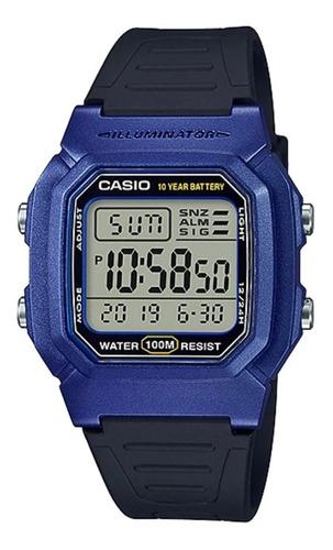 Reloj Hombre Casio W-800h-2av Azul Digital / Lhua Store