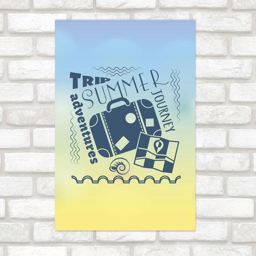 Imagem 1 de 2 de Poster Decorativo Viagem Sumer Trip N012160 30x40cm