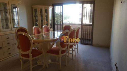 Excelente Apartamento Com 3 Dormitórios À Venda Por R$ 450.000 - Centro - Itatiba/sp - Ap0309