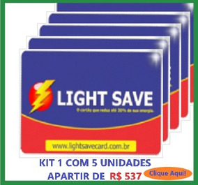Economizador De Energia Light Save Card Kit 1 Com 5 Unid