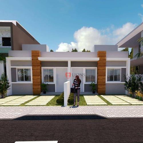 Imagem 1 de 3 de Casa Com 2 Dormitórios À Venda, 50 M² Por R$ 206.000 - Parque Da Matriz - Cachoeirinha/rs - Ca1308