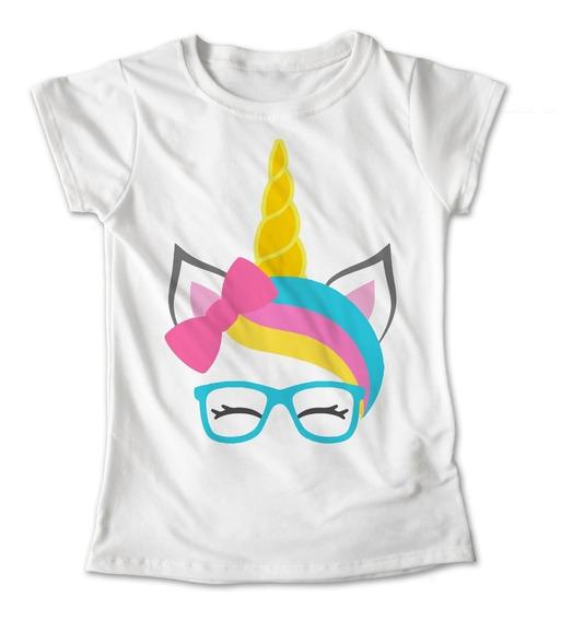 Blusa Unicornio Colores Playera Cuerno Lentes #425