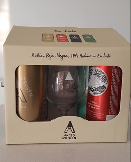 Pack 4 Latas Cerveza Andes + 1 Copa Andes