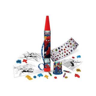 Mega Crayon Set De Arte Spiderman Tapimovil