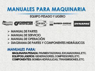 Manual De Partes Para Motoniveladora Champion Series 710a