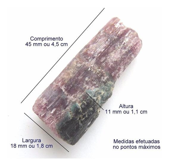 Turmalina Paraíba Natural Bruta Violeta Pedra Preciosa 3156a