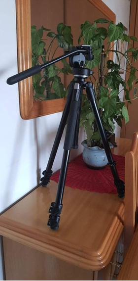 Tripé Manfrotto Mk290xta3 + Cabeça 128rc, Nikon, Canon