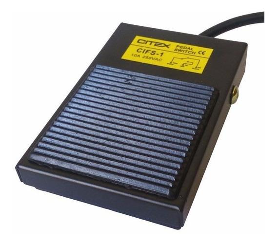 Cifs-1 Interruptor Tipo Pedal 1na + 1 Nf Metal Preto Mdfs-1
