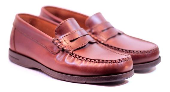 Zapatos Febo 520 Mocasines Náuticos Cuero Goma Negro